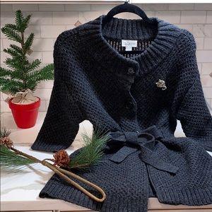 Sweaters - NWOT ANN TAYLOR LOFT GREY WOOL KNIT  CARDIGAN❤️